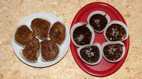 Gebackene CBD Muffins und ungebackene CBD Brownies