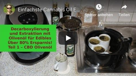 Video Vorschaubild zur Decarboxylierung Teil 1 – CBD Olivenöl