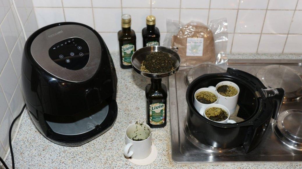 CBD Hanf decarboxylieren und extrahieren mit Olivenöl