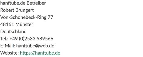 Hanftube.de Datenschutz