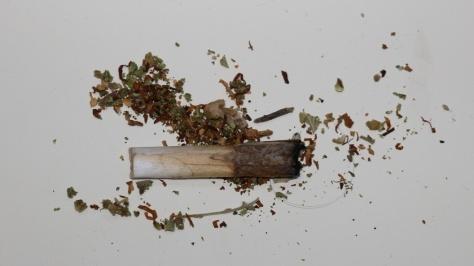Ein aufgerauchter Joint